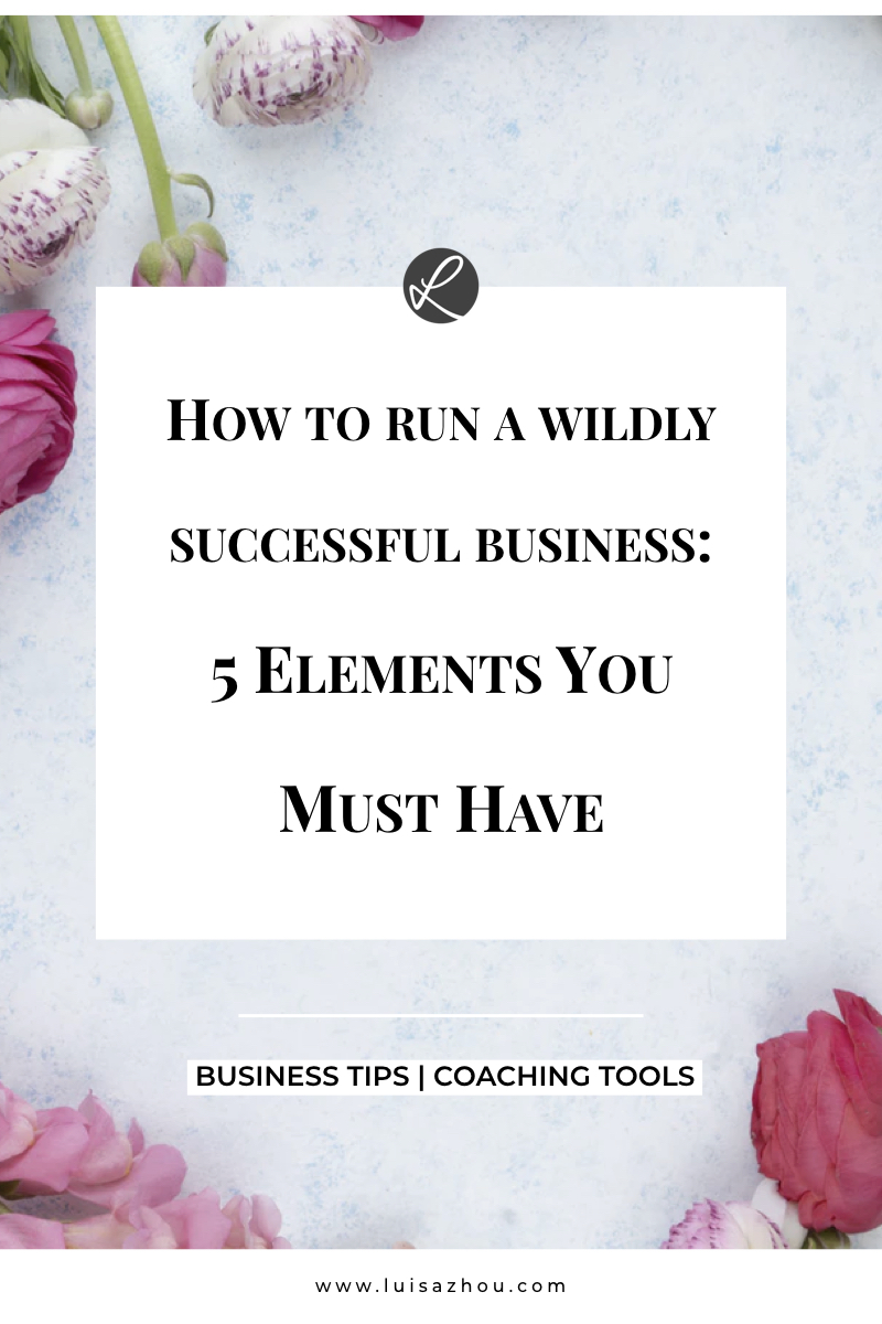 How to run a wildly successful business- 5 Elements You MUST Have-1.001