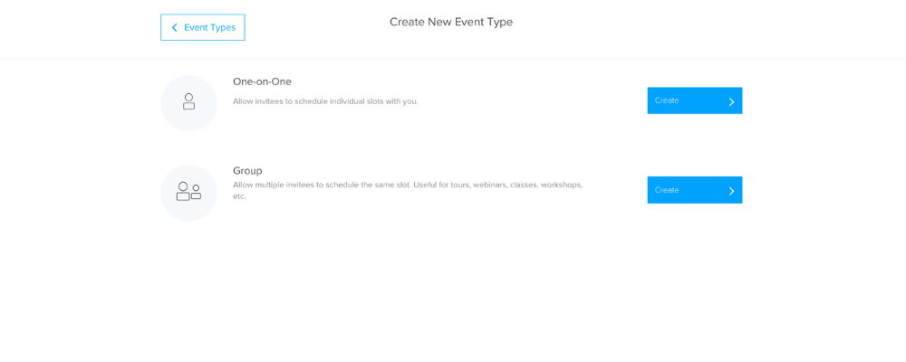 create new event Calendly